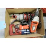 (LOT) (2) MILWAUKEE HARMMER DRILLS AND (1) BLACK AND DECKER DRILL