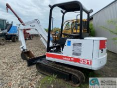 """BOBCAT 331 MINI EXCAVATOR, 4-CYLINDER DIESEL ENGINE, 6,275 HOURS; S/N 511920385, WITH 20"""" TOOTH"""