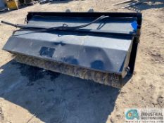 """96"""" HYDRAULIC LOADER BUCKET WITH SWEEPER ATTACHMENT"""