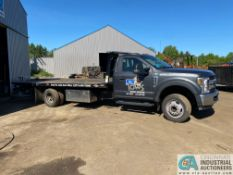 2018 FORD F550XL ROLLBACK, 19' STEEL DECK, RAMSEY CABLE WINCH, 56,657 MILES, AUTOMATIC TRANSMISSION,