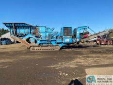 """TEREX PEGSON 1412 """"TRAKPACTOR"""" TRACKED MOBILE ROCK CRUSHER; S/N 1402157FF, 328 KW,"""