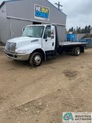 2006 INTERNATIONAL ROLLBACK, DUAL TIRE, 19' STEEL BED, RAMSE CABLE WINCH, HEADACHE RACK WITH LIGHTS,