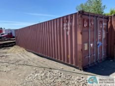 40' CONEX SHIPPING CONTAINER, STEEL DECK FLOOR, MGW 67,200