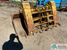 """92"""" ALLIED GATOR MODEL 1661A HYDRAULIC LOADER BUCKET WITH GRAPPLER ATTACHMENT"""