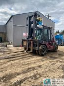 "22,000 LB. CAPACITY TAYLOR T-220S ""BIG RED"" DIESEL, DUAL TIRE PNEUMATIC LIFT TRUCK, 93"" FORKS, 17,"