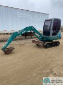"""KOMATSU PC10-7 MINI EXCAVATOR, ARTICULATING BOOM, 1,728 HOURS; S/N 26990 WITH 16"""" DITCHING"""