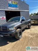 2004 DODGE 2500 4X4 GAS AUTOMATIC REGULAR CAB LONG BED TRUCK