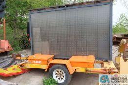 SOLAR TECHNOLOGY TRAILER MOUNTED SOLAR / BATTERY POWERED SILENT MESSENGER SIGN