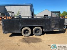 16' TANDEM AXLE TRAILER **NO Title - KR will Provide Weight Slip to Obtain Tags**