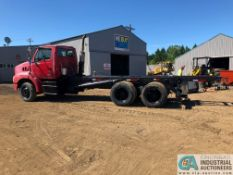 2007 STERLING TANDEM AXLE DUAL WHEEL ROLLOFF CONTAINER TRUCK, EASTON FULLER TRANSMISSION,