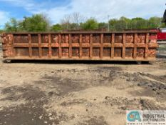 OPEN TOP STEEL CONSTRUCTED ROLLOFF CONTAINER APPROX. 30' LONG X 5' HIGH X 8' WIDE