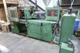 **150 TON NEWBURY MODEL H6-150RS HYDRAULIC CLAMP PLASTIC INJECTION MOLDING MACHINE; S/N 33382150S73,