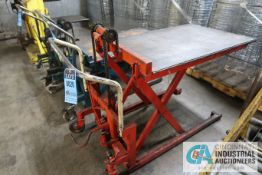 "44"" X 27"" X 1,100 LB. BISHAMON PORTABLE HYDRAULIC DIE CART"
