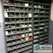 PIGEON HOLE CABINETS W/ MISC. TOOLS & HARDWARE