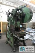 "56 TON JOHNSON MODEL 5FW OBI PRESS; S/N 55199, 4"" STROKE, 3"" ADJ., 9"" SHUT HEIGHT, 100 SPM"