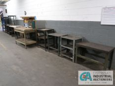 (LOT) STEEL BENCHES & TABLES