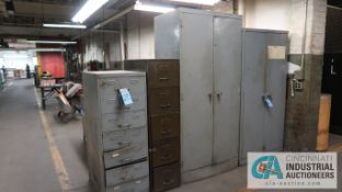 CABINETS W/ MISC. TOOLING, HARDWARE & SHIMS