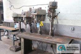 CLAUSING 3-HEAD PRODUCTION TABLE DRILLS, (2) MODEL 2286 HEADS, (1) MODEL 2284 HEADS