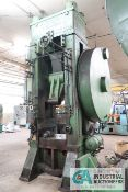 "600 TON VERSON MODEL 600K-T30 KNUCKLE JOINT PRESS; S/N 9984, 4"" STROKE, 1/2"" ADJ., 24"" SHUT"