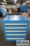 FIVE-DRAWER LISTA TYPE CABINET W/ MISC. TOOLING