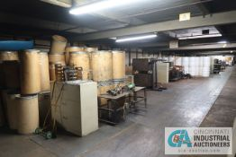 (LOT) CONTENTS OF LOFT INCLUDING MISC. ELECTRICAL, LIGHTING, MACHINE PARTS, CABINETS & TABLES
