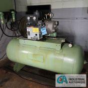 10 HP SULLAIR MODEL ES6-10AC HORIZONTAL TANK AIR COMPRESSOR; S/N 201306120020, HOURS SHOWING: 4,947
