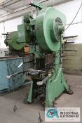 "35 TON DANLY MODEL 35T OBI PRESS; S/N 3550340260, 2"" STROKE, 10-1/2"" SHUT HEIGHT, 2-1/4"" ADJ., 120"