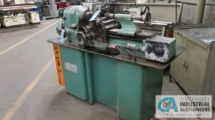 "8"" X 18"" HARDINGE MODEL HLV PRECISION LATHE; SPINDLE SPEED 125 - 3,000 RPM, 5C COLLET CHUCK,"