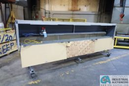 12' LONG CUSTOM BUILT GRAPHITE ROUTER TABLE WITH MILWAUKEE ROUTER