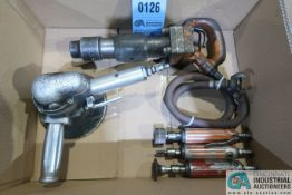 (LOT) MISCELLANEOUS PNEUMATIC TOOLS, CHIPPING HAMMER, SANDER AND DIE GRINDERS