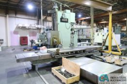LUCAS MODEL 40T66 CNC HORIZONTAL BORING MILL; S/N 40T0124, 5' X 7' TABLE, DYNAPATH 50 CONTROL, NEW