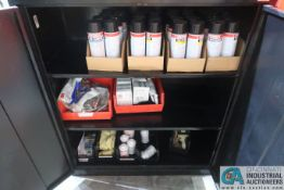 CABINET AND CONTENTS MISCELLANEOUS WELDING SUPPLIES