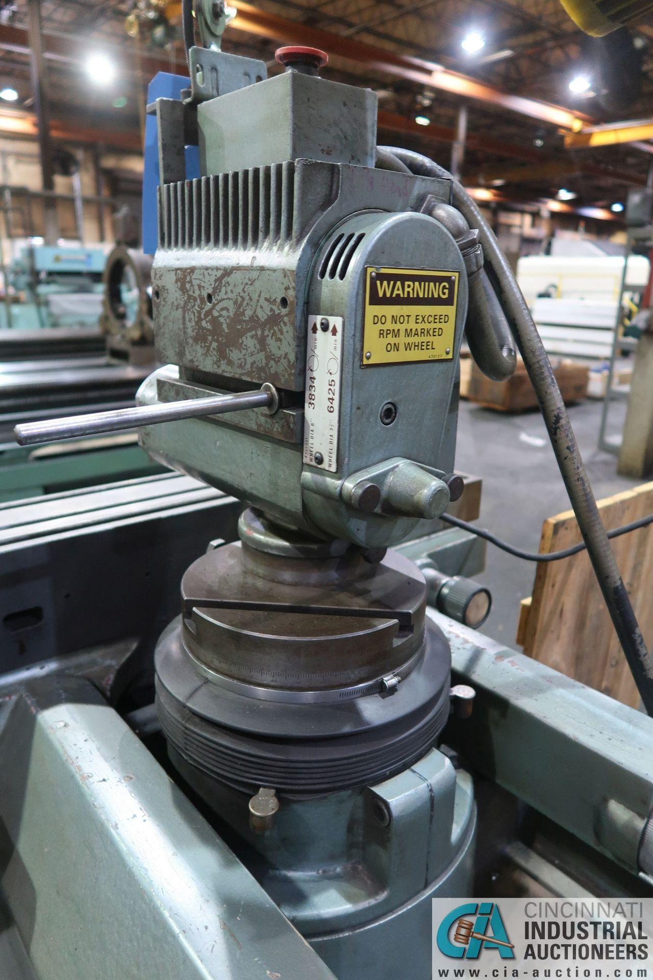 CINCINNATI TYPE MT TOOL GRINDER; S/N 1D2F1ABF-15, WITH (1) WOOD CRATE MISCELLANEOUS FIXTURES (NEW - Image 10 of 11