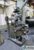 1 HP BRIDGEPORT MILLING MACHINE; S/N 164762, 80-2,720 SPINDLE RPM, SERVO POWER TABLE ATTACHMENT