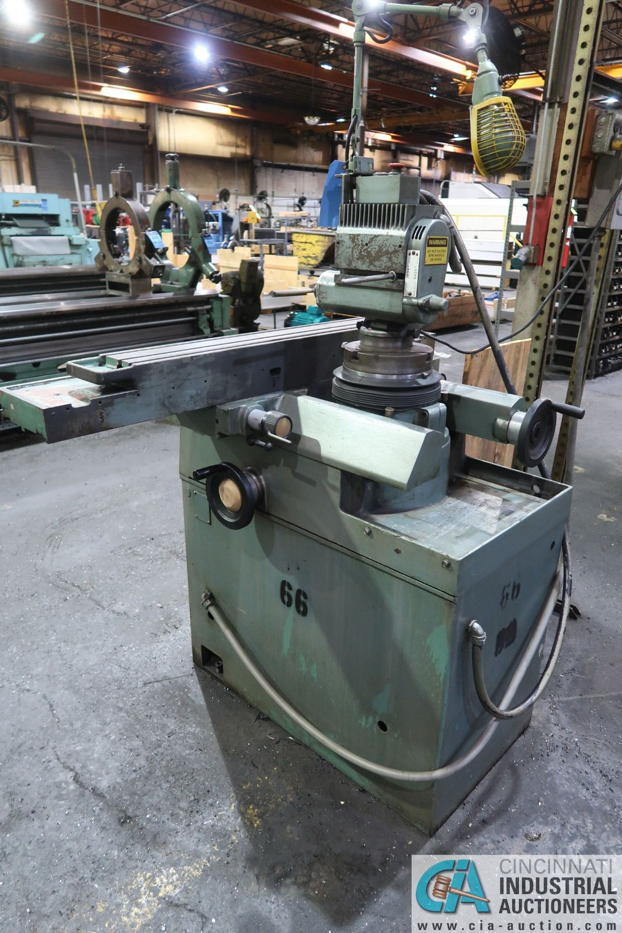 CINCINNATI TYPE MT TOOL GRINDER; S/N 1D2F1ABF-15, WITH (1) WOOD CRATE MISCELLANEOUS FIXTURES (NEW - Image 3 of 11