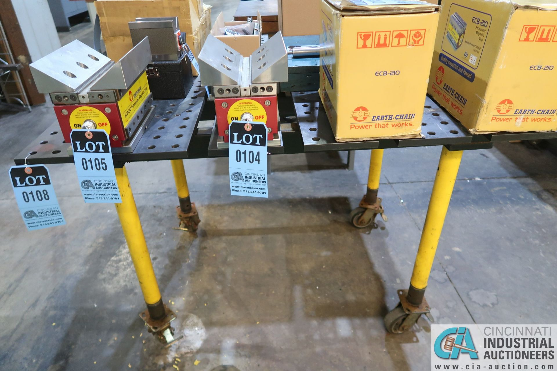 """46"""" X 46"""" PRECISION WELDING / FIXTURE TABLE, 5/8"""" DRILLED HOSE IN 2"""" GRIND **DELAY REMOVAL** - Image 2 of 2"""