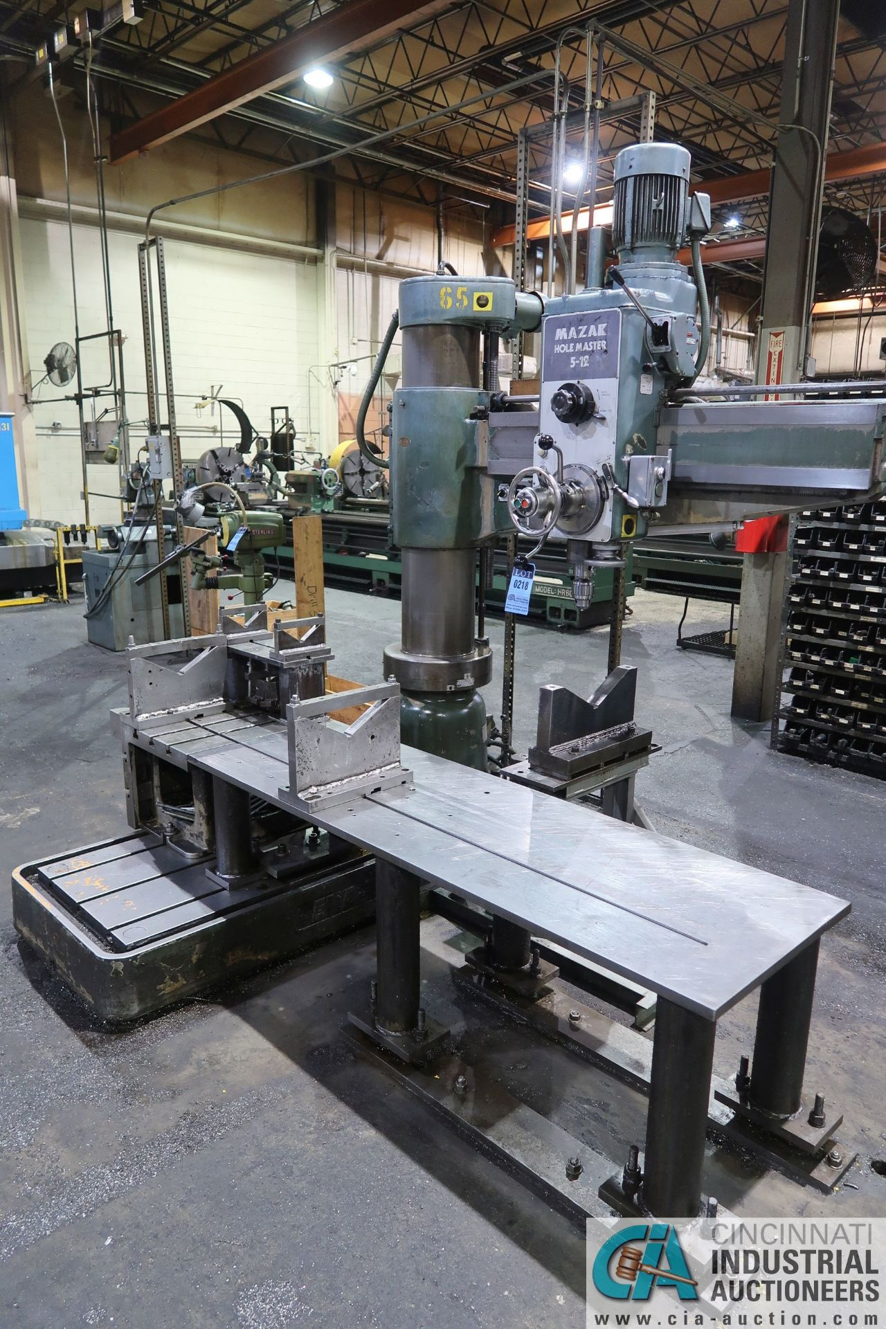 """5' ARM X 11"""" COLUMN MAZAK MODEL HOLE-MASTER 512 RADIAL ARM DRILL; S/N 77058L, WITH 20"""" X 24"""" X 16"""" - Image 2 of 12"""