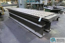 """41"""" X 17' X 39"""" HIGH CAST IRON T-SLOTTED TABLE"""