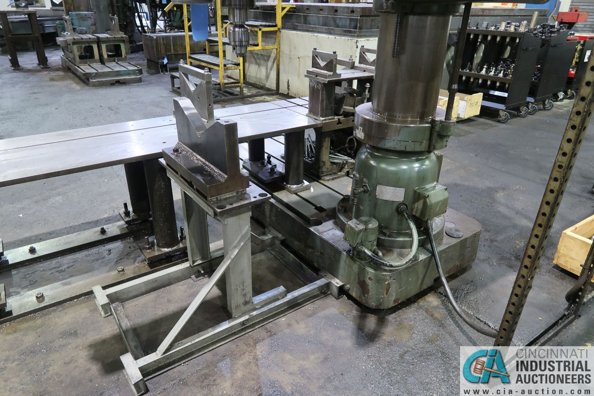 """5' ARM X 11"""" COLUMN MAZAK MODEL HOLE-MASTER 512 RADIAL ARM DRILL; S/N 77058L, WITH 20"""" X 24"""" X 16"""" - Image 12 of 12"""