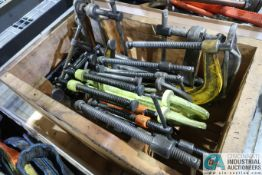 WOOD CRATES MISCELLANEOUS C-CLAMPS