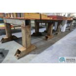 MISCELLANEOUS WIDTH SHOP BUILT HEAVY DUTY STEEL SAW HORSES **DELAY REMOVAL PICKUP - NO PLYWOOD**
