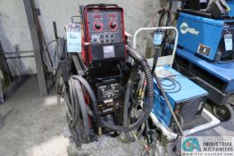 500 AMP LINCOLN ELECTRIC S500 POWERWAVE MIG WELDER; S/N U1120402353, WITH LINCOLN ELECTRIC M-10