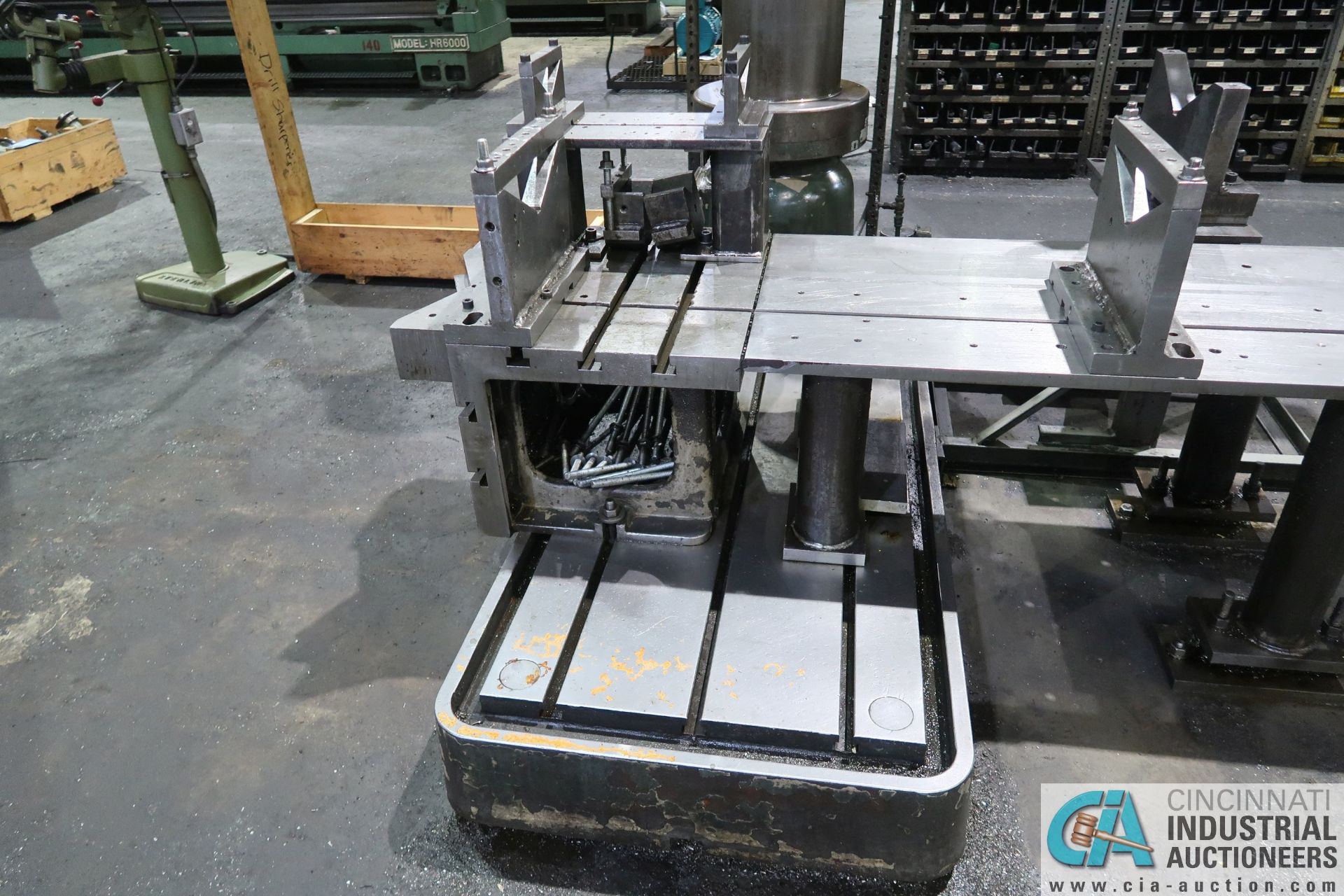 """5' ARM X 11"""" COLUMN MAZAK MODEL HOLE-MASTER 512 RADIAL ARM DRILL; S/N 77058L, WITH 20"""" X 24"""" X 16"""" - Image 8 of 12"""