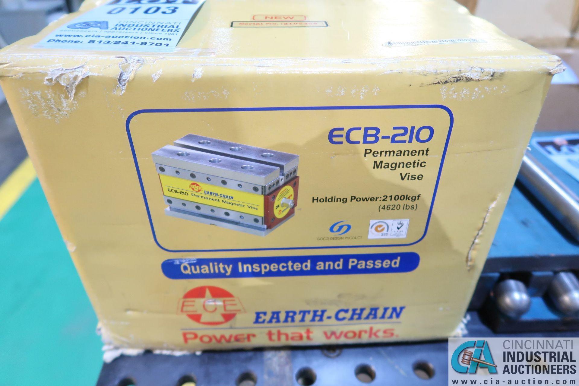 EARTH-CHAIN MODEL ECB-210 NEW PERMANENT MAGNETIC VISE; S/N 2105358, 4,620 LB HOLDING POWER