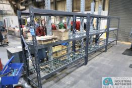 """SECTIONS 24"""" X 72"""" X 72"""" HIGH ADJUSTABLE BEAM LIGHT DUTY PALLET RACK WIRE DECKING, (6)"""