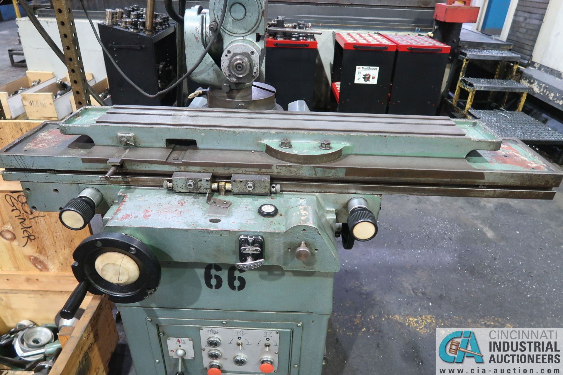 CINCINNATI TYPE MT TOOL GRINDER; S/N 1D2F1ABF-15, WITH (1) WOOD CRATE MISCELLANEOUS FIXTURES (NEW - Image 6 of 11
