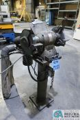 """8"""" DOUBLE END STAND MOUNTED GRINDER WITH SINGLE BAG DUST COLLECTOR"""