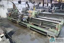 "25"" X 144"" KINGSTON MODEL HR-4000 GEARED HEAD ENGINE LATHE; S/N N/A, REMOVABLE GAP, VS DRIVE, 20"""