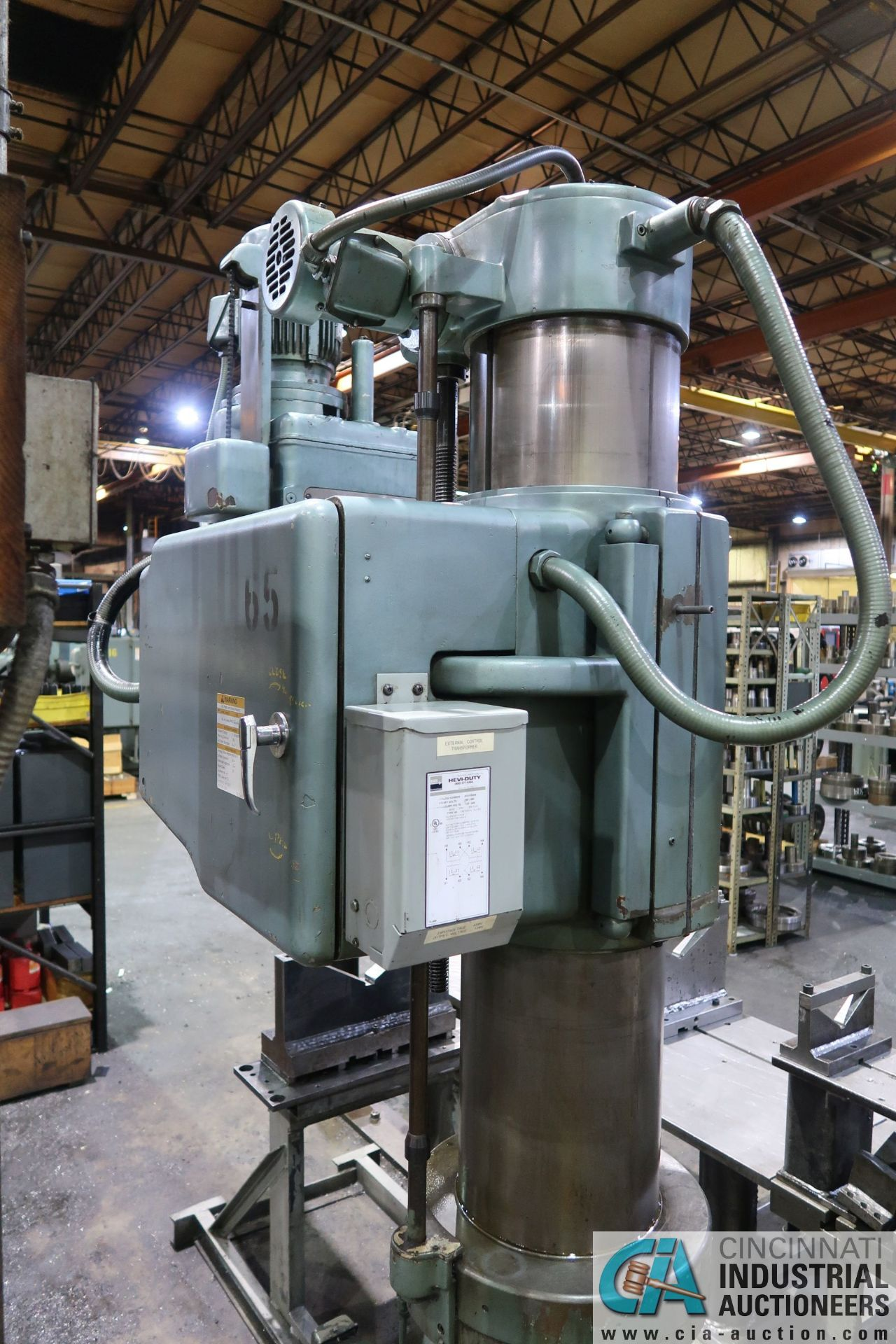 """5' ARM X 11"""" COLUMN MAZAK MODEL HOLE-MASTER 512 RADIAL ARM DRILL; S/N 77058L, WITH 20"""" X 24"""" X 16"""" - Image 10 of 12"""