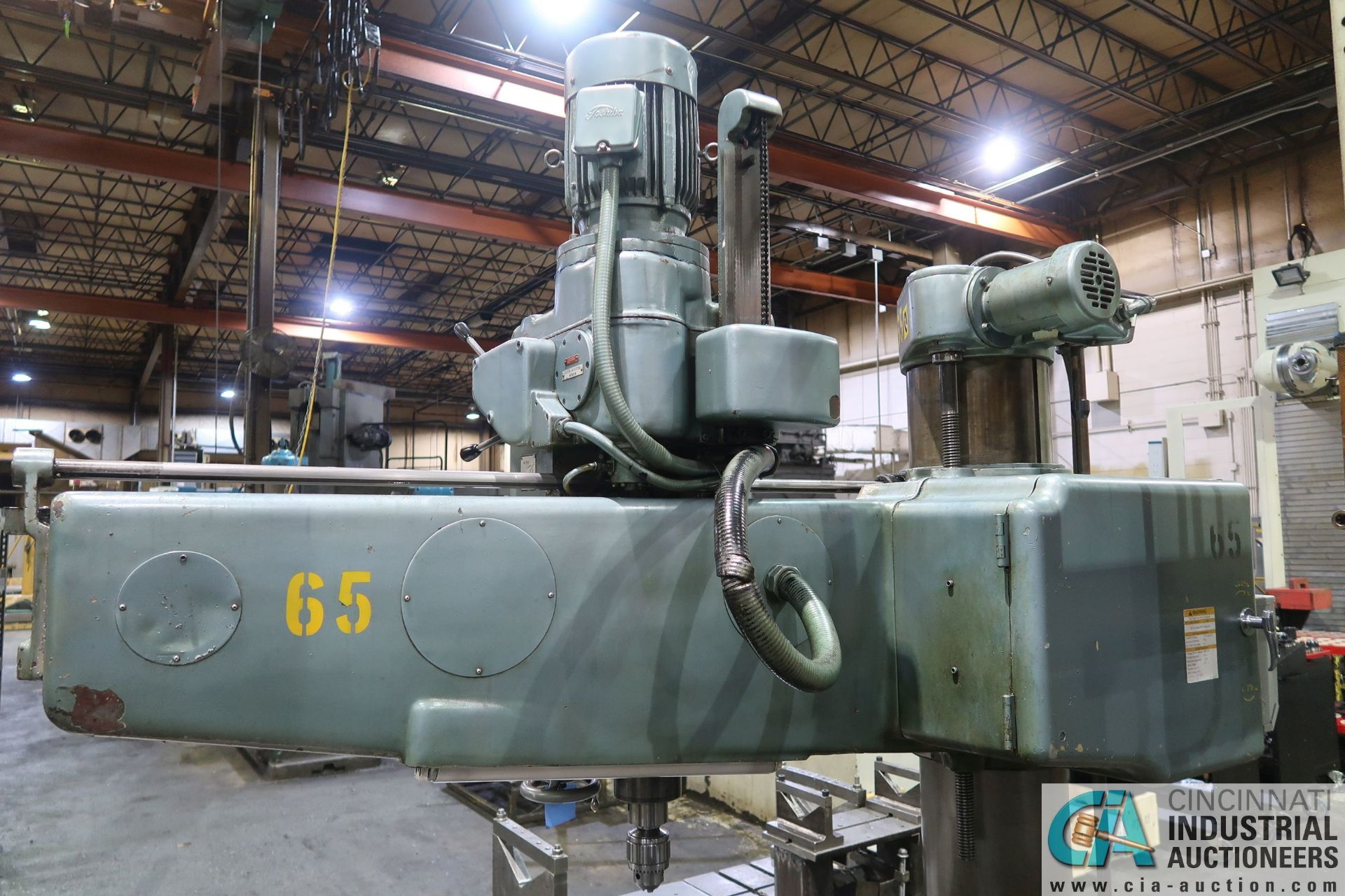 """5' ARM X 11"""" COLUMN MAZAK MODEL HOLE-MASTER 512 RADIAL ARM DRILL; S/N 77058L, WITH 20"""" X 24"""" X 16"""" - Image 11 of 12"""